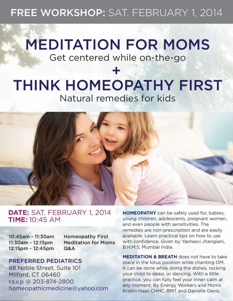 MEDITATION FOR MOMS SAT. FEBRUARY 1, 2014